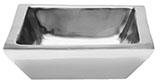 Aluminium Schale, quadratisch doppelwandig klein